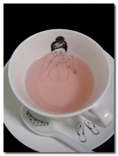 designers block #esther #teacup #girl #illustration #horchner