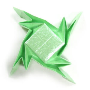 How to make a simple tessellation of origami frog (http://www.origami-make.org/howto-origami-frog.php)