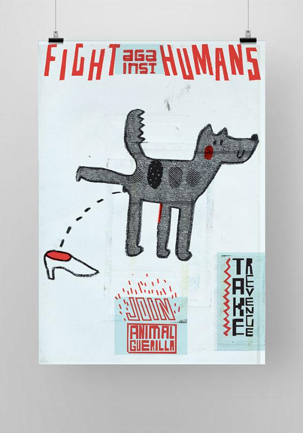 Animal Guerilla on Behance #animal #poster