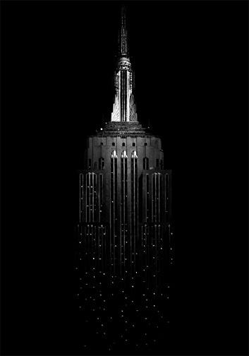 Sara Lindholm - theblackworkshop: Empire State Building, 2008 #empire #building #black #state