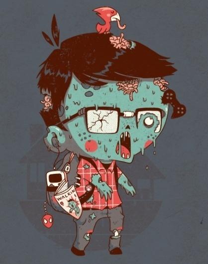 nerdead   Flickr - Photo Sharing! #nerd #dead #illustration #zombie