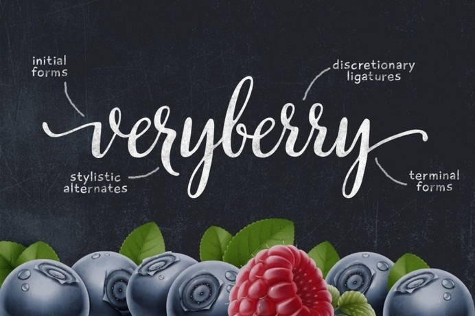 Veryberry Script #typography #hand lettering #script #calligraphy