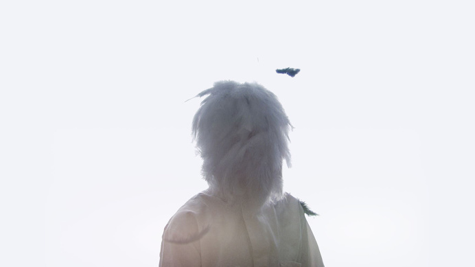#videoart #jacobardenmcclure #white #feather