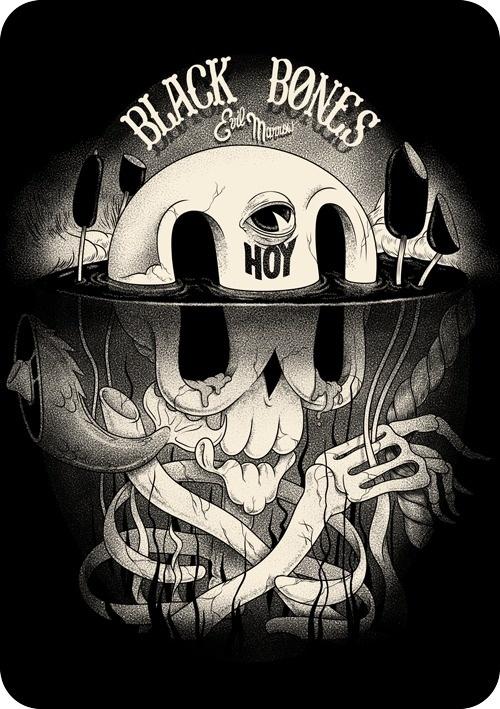 Black Bone Club by McBess #illustration #design #art
