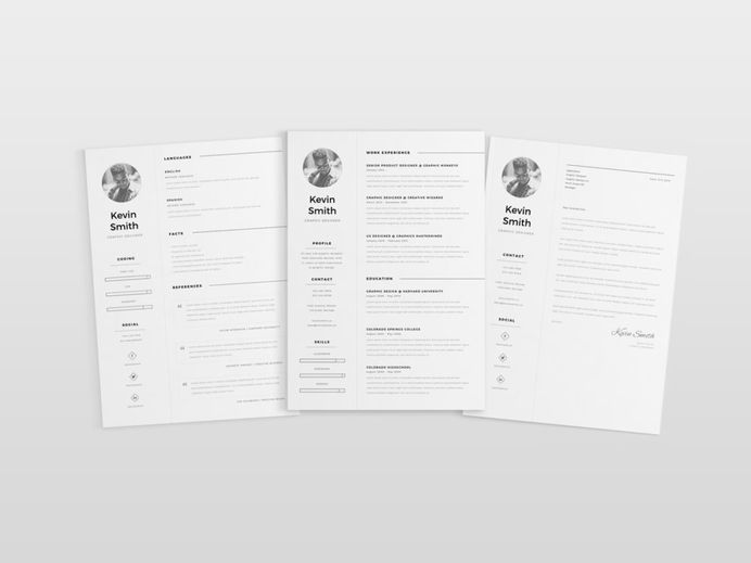 Free Minimal Elegant CV Template for Job Seeker