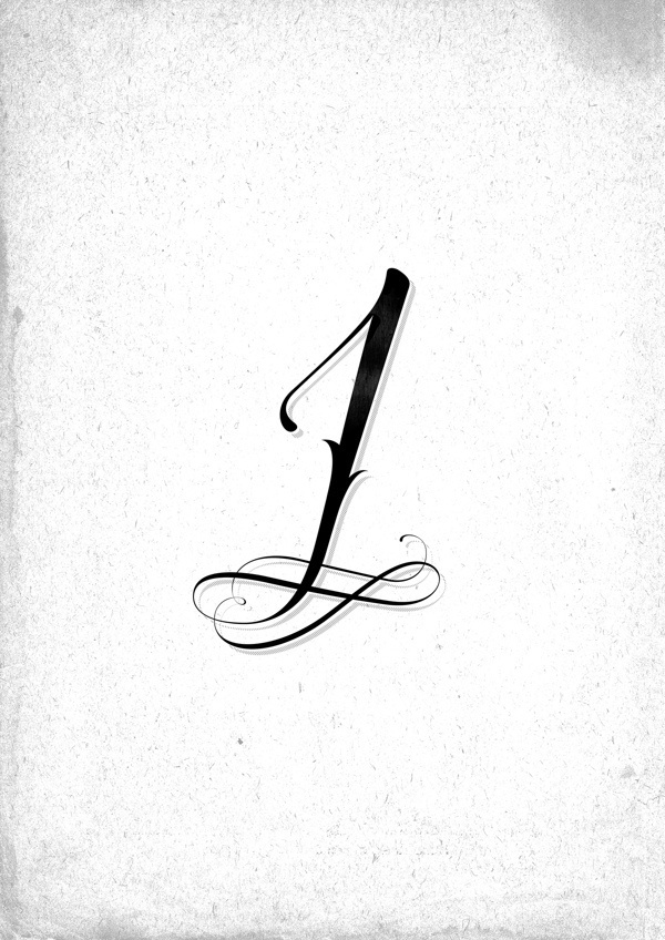 """Ornamental """"One"""" #calligraphy #ornamental #one #type #typography"""