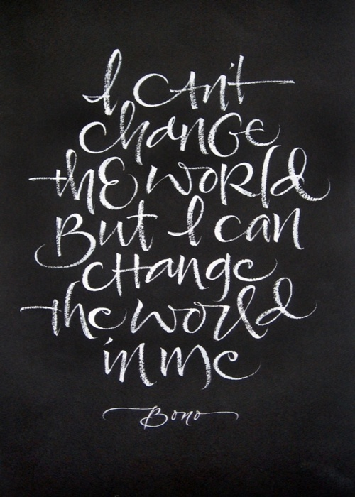 thekhooll:Change The WorldBy Julie Wildman #type #handdrawn #chalk