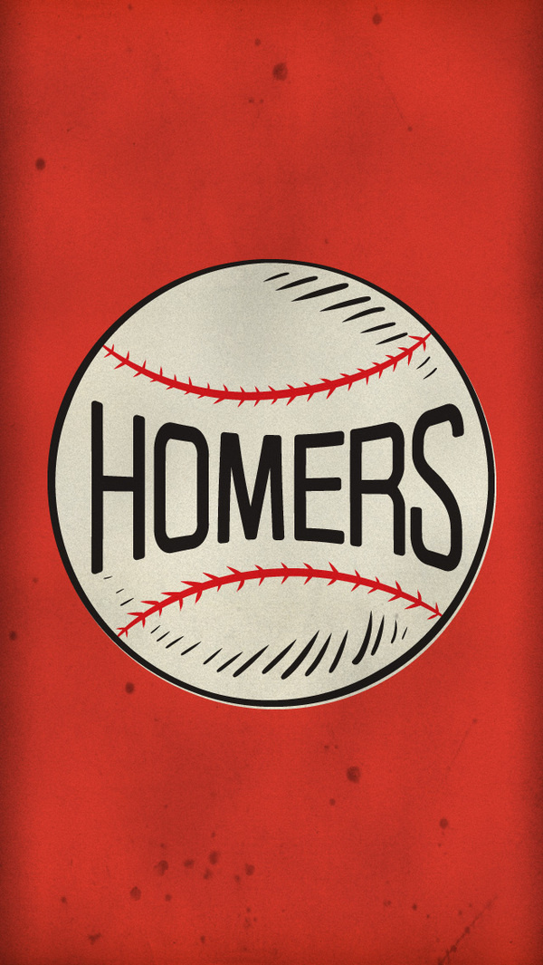 Homers Wallpaper #old #icon #texture #illustration #sports #vintage #baseball #type #typography
