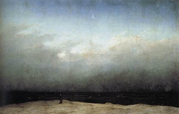 Monk by the Sea #friedrich #the #by #monk #sea #painting #art #caspar #david