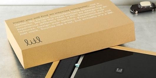 Litl - TheDieline.com - Package Design Blog #cardboard #litl #packaging #book #box #black