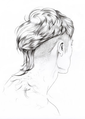 Lítill Blóm sexy undercut hair illustration male drawn minimal