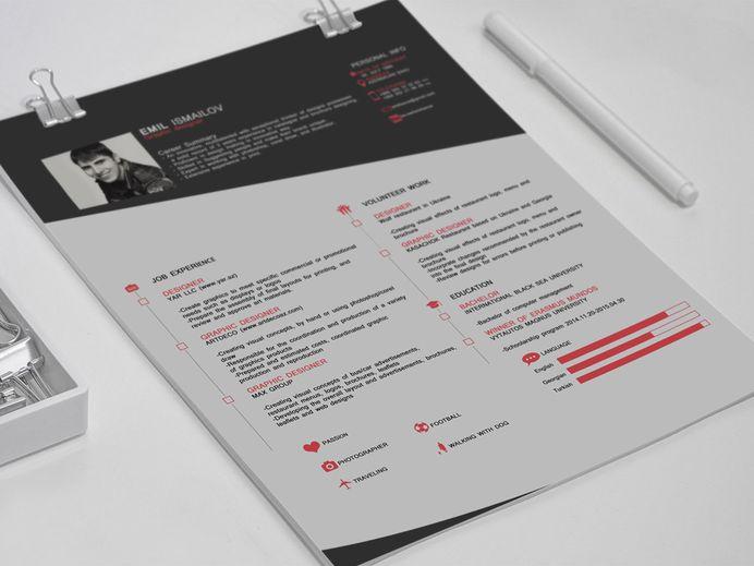 Ismailov Resume - Free Professional Resume Template with Elegant Design