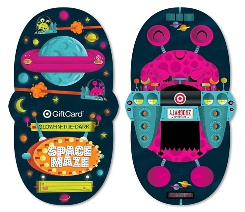 Invisible Creature Speaks #maze #packaging #card #gift #illustration #target #invisible #creature