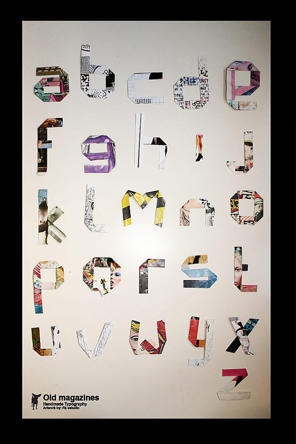 typography by RK Estudio #collage #typography