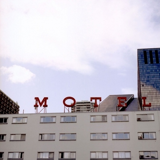 we love typography. a place to bookmark and savour quality type-related images and quotes #sign #motel #neon #typography