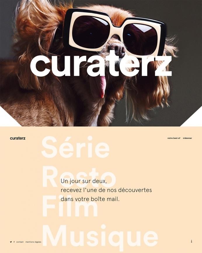 Curaterz lifestyle culture newsletter webdesign france inspiration modern minimal animation website mindsparklemag
