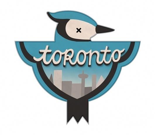 Toronto - The Everywhere Project #canada #burke #bird #illustration #jay #blue #toronto #fatti