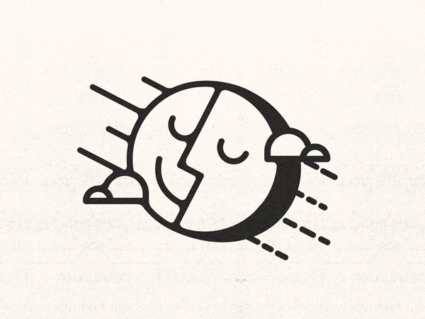 A Mild Life #sun #mac #icon #kyle #illustration #mild #life #mr #moon