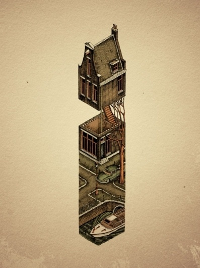 Evan Wakelin's drawings and stuff #holland #citroen #netherlands #city #threadless #amsterjam #amsterdam #canal