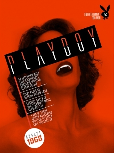 magazine5.jpg 450×600 pixels #playboy #design #orange #graphic #constructivism