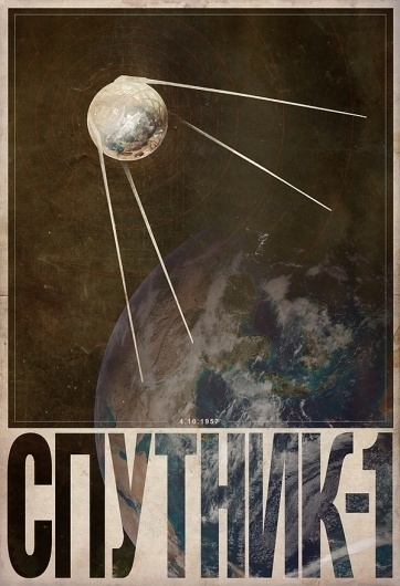 Space Race - Cosmonaut on the Behance Network #justin #van #genderen #space #vintage #poster #race