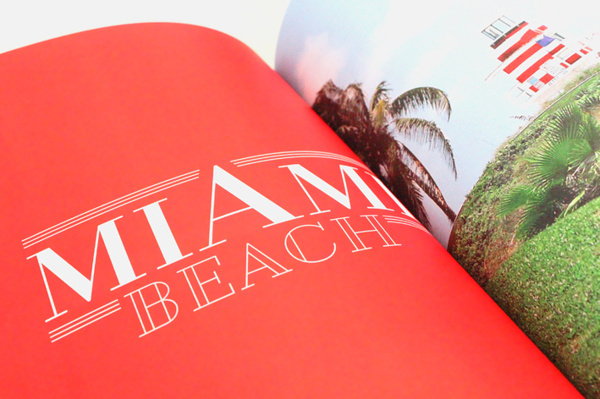 Photo book NYC — Florida on Behance #beach #red #florida #photo #design #graphic #book #south #miami #typography