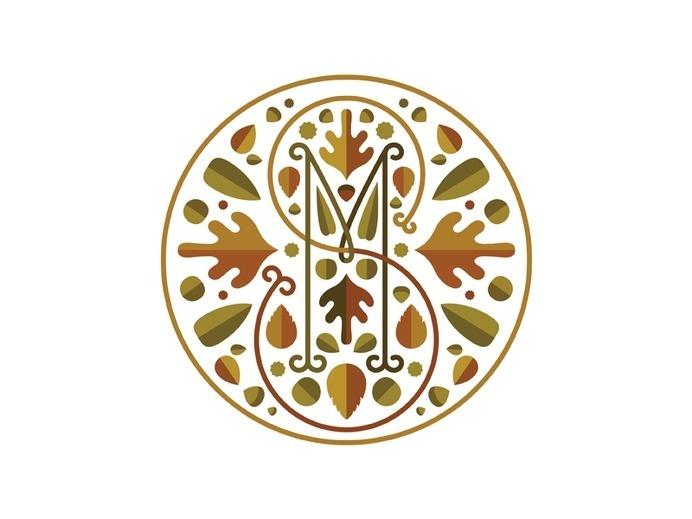 Monogram M+S #leafes #logo #autumn