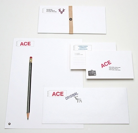 Ace Hotel / Collateral: Pendleton Blankets, Stationery, Keycards / The Official Manufacturing Company #stationary #identity #collateral #branding