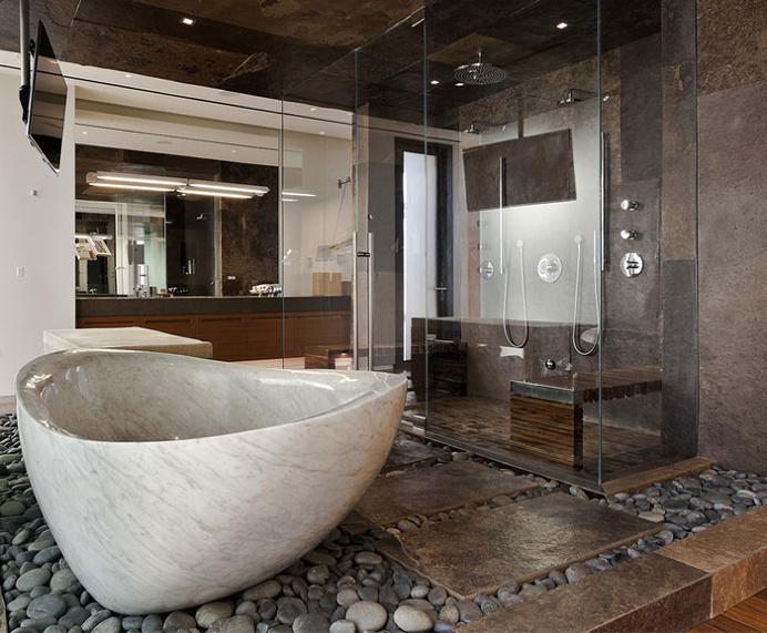 Spectacular Luxury Desert House - #bath, #interior, #decor, home, bathroom