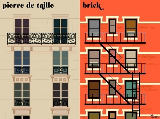 la façade Art Print by Paris vs New York | Society6 #paris #facade #print #6 #illustration #la #art #york #society #new