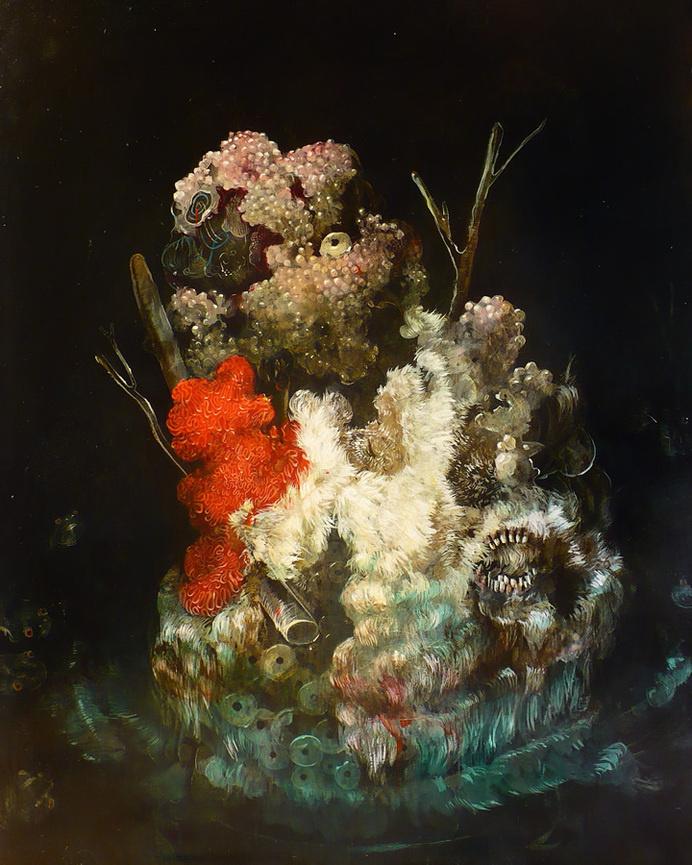 Biomorphic Paintings by Nicole Duennebier #art #painting