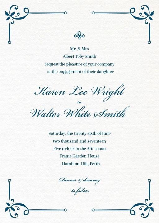 Vintage Cobalt - Engagement Invitations #paperlust #engagement #engagementinvitation #invitation #engagementcards #engagementinspiration #w