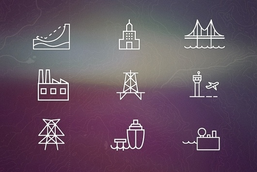 Dribbble - sunset.jpg by Eric Ressler #line #white #water #monoweight #travel #icons #mono #industry