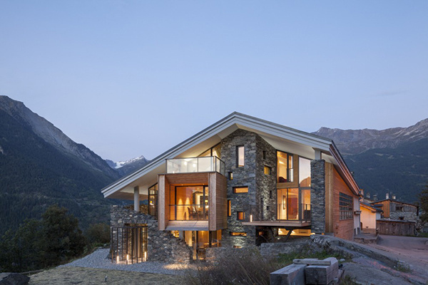 The Mineral Lodge by Atelier d'Architecture Christian Girard #architecture #house