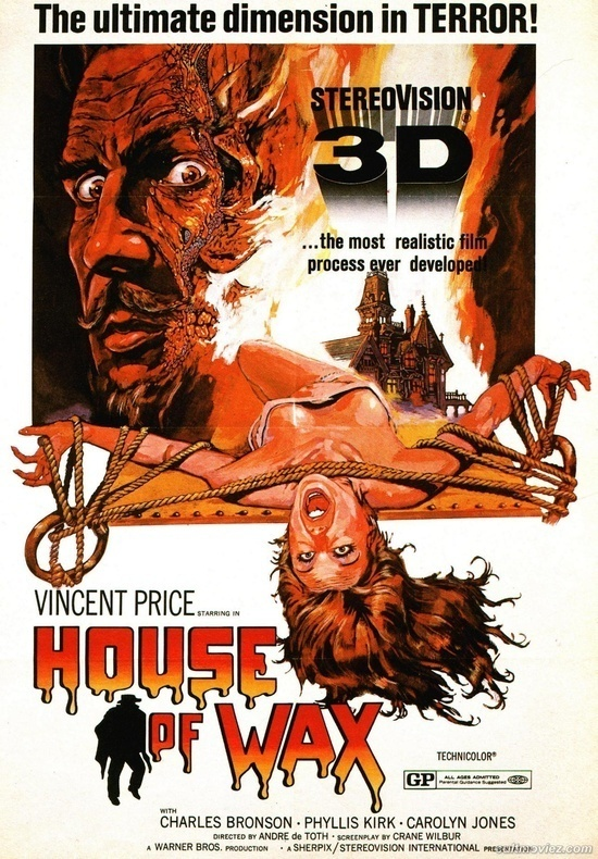 House of Wax.....1953 #illustration #retro #movie #poster