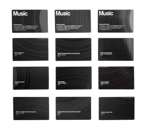 Best Music Business Cards Jpeg 500 446 Pixels Images On Designspiration