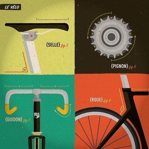 FFFFOUND!   trackosaurus rex - Pretty cool illustration... #gears #illustration #bike #bicycle
