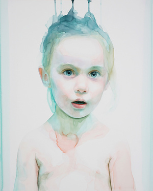 Speak my words (Saoirse) 20 x 16 inches, watercolor on panel