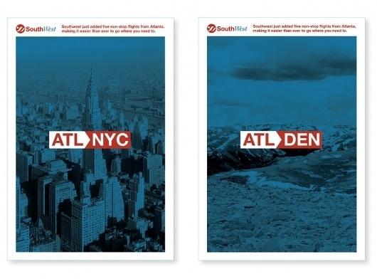 Atlanta Graphic Designer   Eric Beatty   Southwest Rebrand #rebrand #beatty #airline #eric #poster