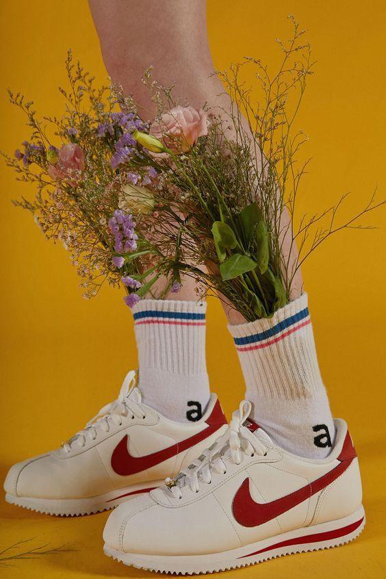 'a' stripe socks 'But near missed things' www.adererror.com