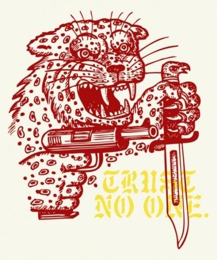 EIKNARF #gun #illustration #knife #animal
