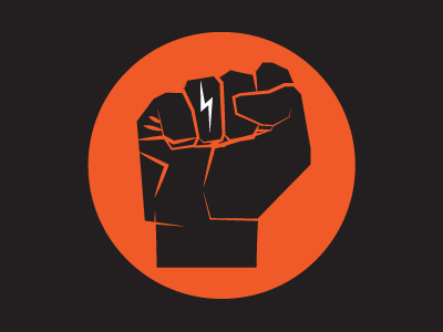 Fist logo by Amy Hood #illustration #lightning #drawn #bolt #logo #hand