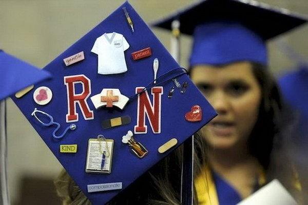 Awesome Graduation Cap Decoration Ideas #school #graduate #decoration