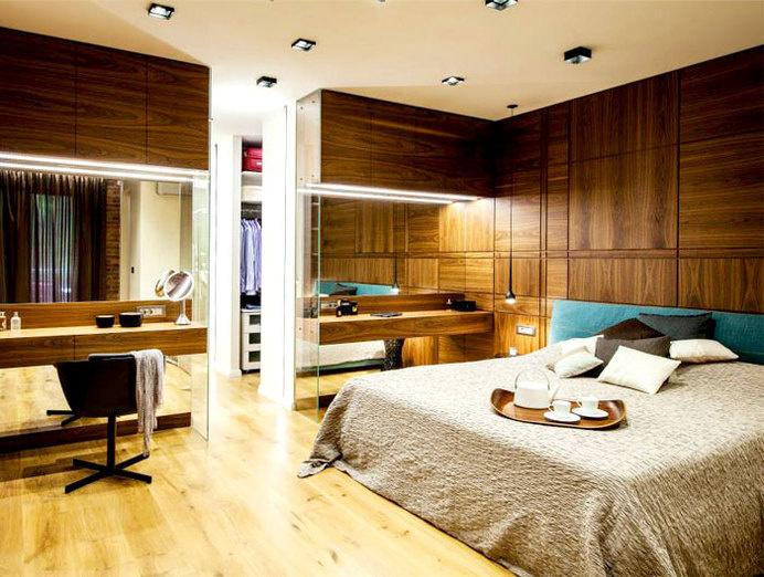 Feminine Trendy Cool Apartment in Sofia spacious high class apartment sofia #bed #bedroom #design #decorating