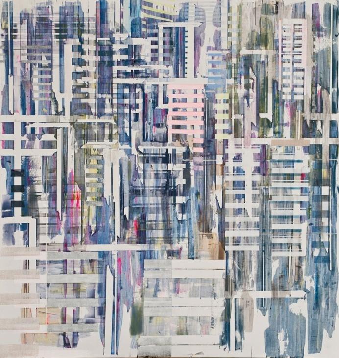 Semi-abstract Urban Scenes by Nuri Kuzucan - JOQUZ #urban #abstract #city #art #painting