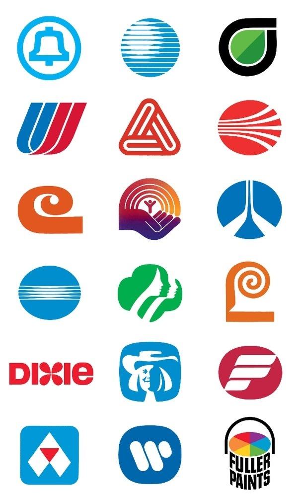File:Compilation of Saul Bass logos.png #bass #saul #logos