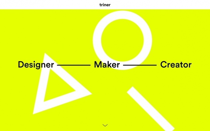 Filip Triner designer maker münchen zürich germany webdesign website site of the day minimal neon yellow geometry portfolio sotd award  br