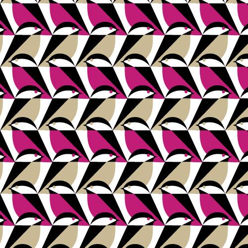 Sparro   Rosa :: Mixteca by Eleanor Grosch for Cloud9 Fabrics #fabric #design #bird #illustration #spatter