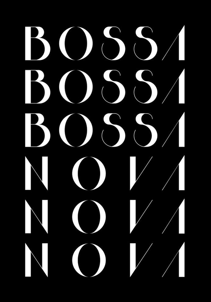 Bossa Nova 1 Black Art Print by Koning | Society6