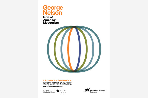 George Nelson #exhibition #identity #vintage #poster
